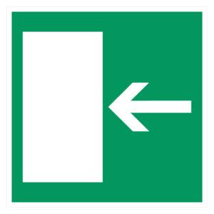Vluchtweg links is vluchtweg rechts