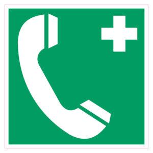 Telefoon Eerste Hulp Sticker Vierkant