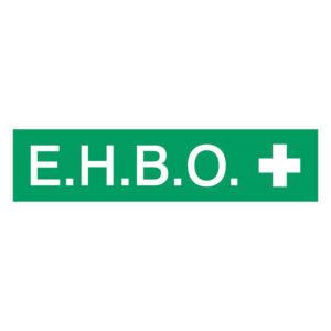 EHBO Sticker Rechthoek