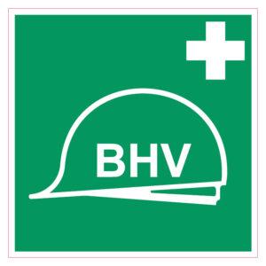 Bedrijfshulpverlener BHV sticker vierkant