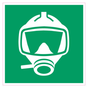 Vluchtmasker Sticker