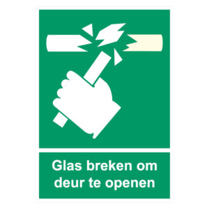 Glas Breken Sticker