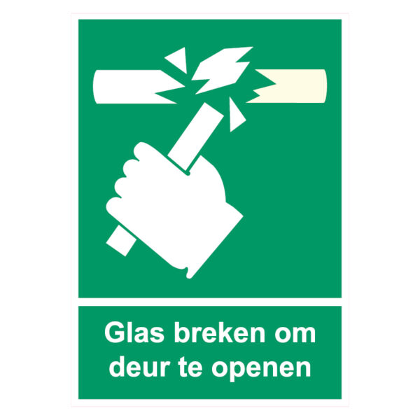 Glas Breken Sticker