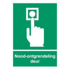 Noodontgrendeling Sticker