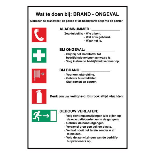 Calamiteiten: Wat te doen bij: Brand - Ongeval