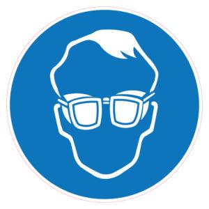 Dragen van een bril met zijschilden verplicht