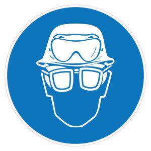 Dragen van helm, zuurbril en bril met zijschilden verplicht