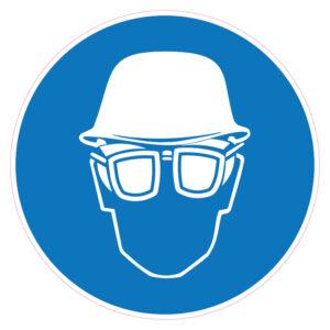 Dragen van helm en bril met zijschilden verplicht