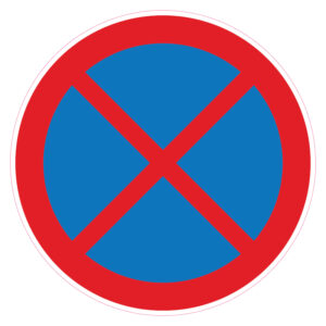 Absoluut verboden te stoppen