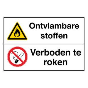 Ontvlambare stoffen / Verboden te roken