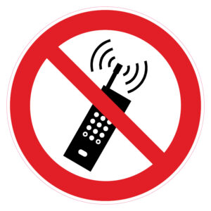 Draagbare telefoons verboden