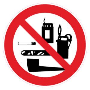 Meenemen van tabaksartikelen aanstekers en lucifers verboden