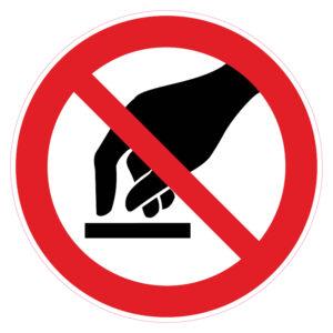 Aanraken verboden