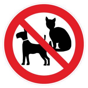 Verboden voor honden en katten