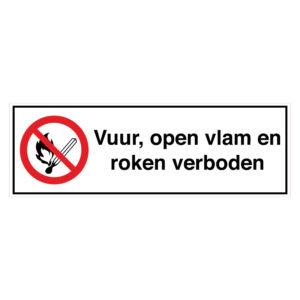 Vuur, open vlam en roken verboden