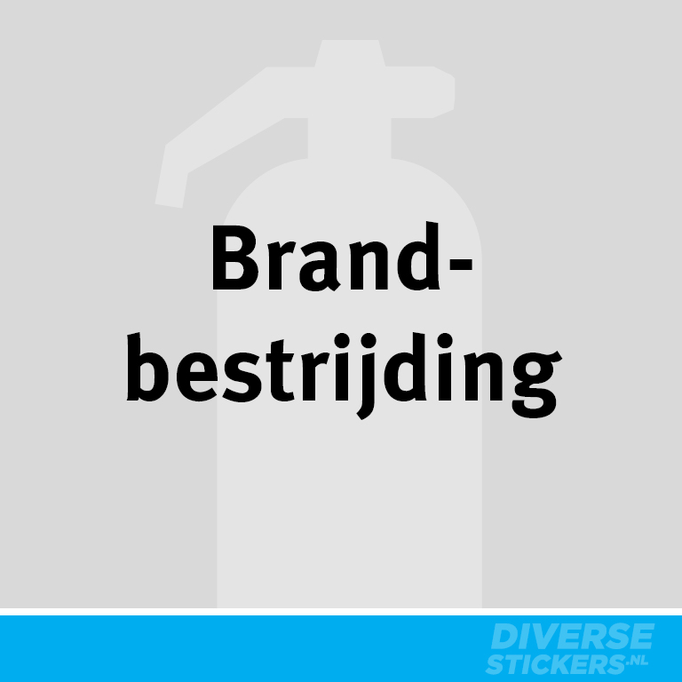 Brandbestrijding sticker
