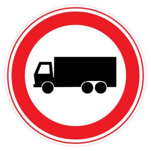 Gesloten voor vrachtautos
