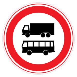 Gesloten voor autobussen + Vrachtwagens