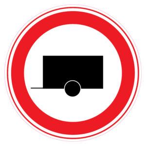 Gesloten voor motorvoertuigen met aanhanger