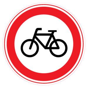 Gesloten voor fietsen en gehandicaptenvoertuigen zonder motor