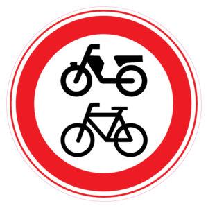 Gesloten voor fietsen en gehandicaptenvoertuigen