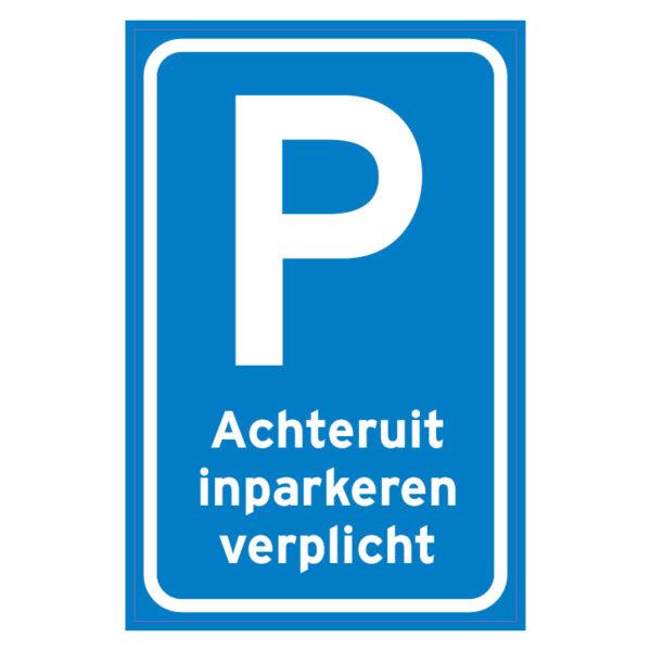 Achteruit inparkeren verplicht