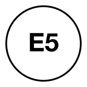 E5 Brandstofsticker
