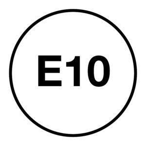 E10-brandstofsticker