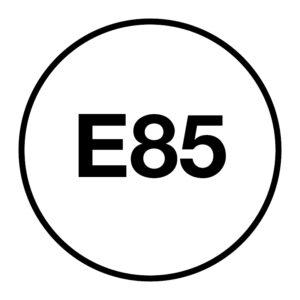 E85-brandstofsticker