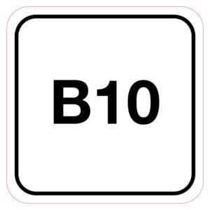 B10-Brandstofsticker
