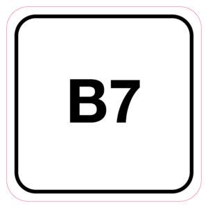 B7-Brandstofsticker