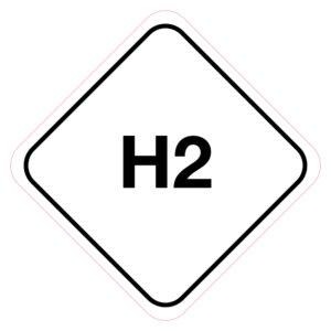H2-Brandstofsticker