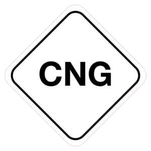 CNG-brandstofsticker