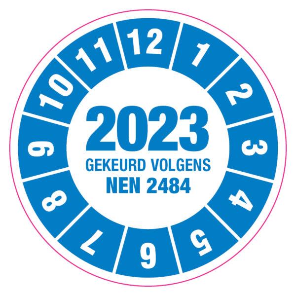 Keuringssticker NEN2484_Blauw