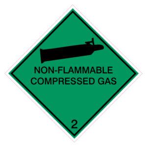 Niet brandbare gecompresseerde gassen