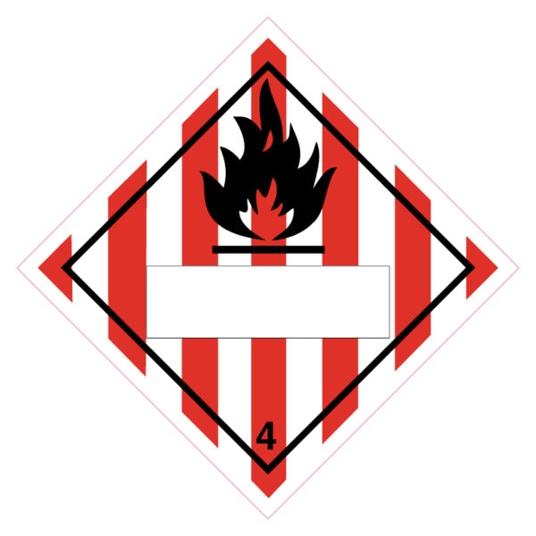 Brandgevaar (brandbare vaste stoffen)