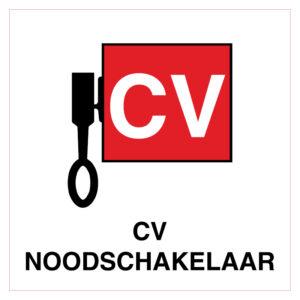 Locatieaanduiding CV Noodschakelaar