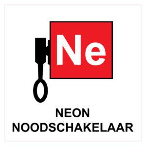 Locatieaanduiding Neon Noodschakelaar