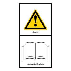 Gevaar, eerst handleiding lezen