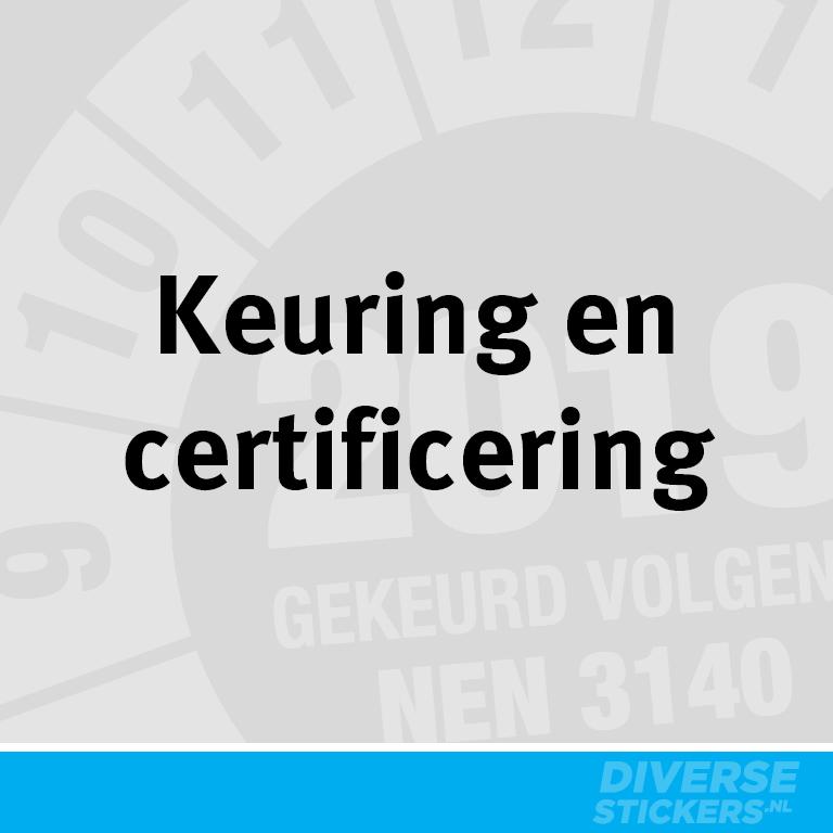 Thumbnail Keuring en Certificering