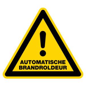 Automatische brandroldeur
