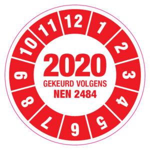 Keuringssticker NEN2484 Rood