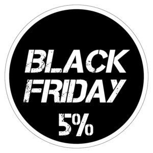 Black Friday 5% korting