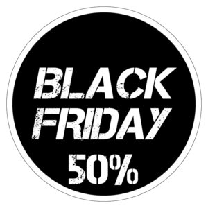 Black Friday 50% korting