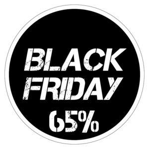 Black Friday 65% korting