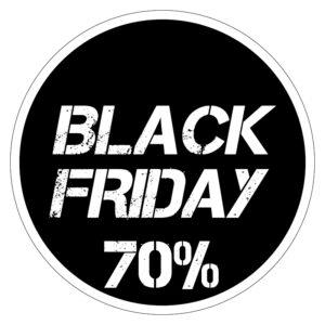 Black Friday 70% korting