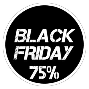 Black Friday 75% korting
