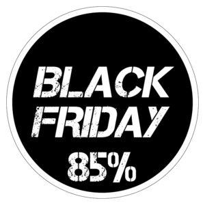 Black Friday 85% korting