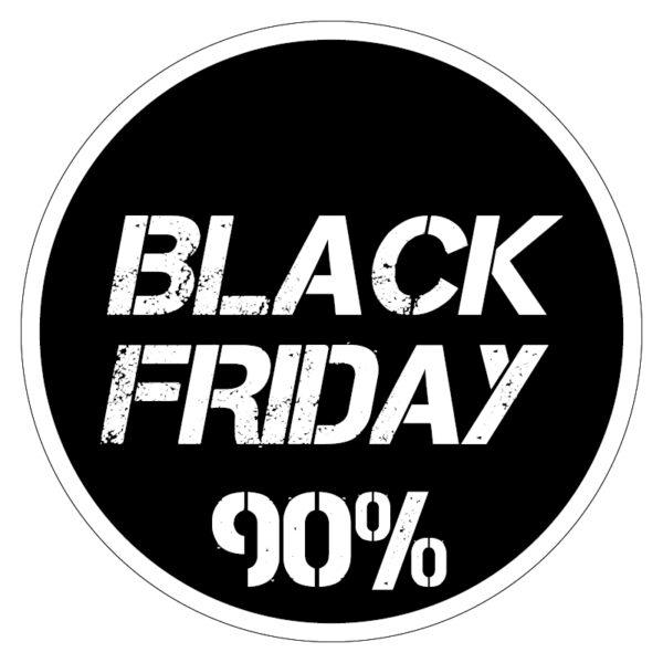 Black Friday 90% korting