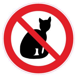 Verboden voor katten
